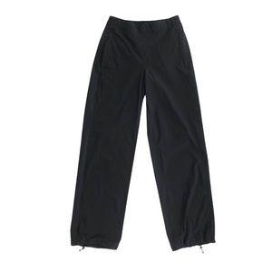 Lululemon wide-leg ankle drawstring pants black 4